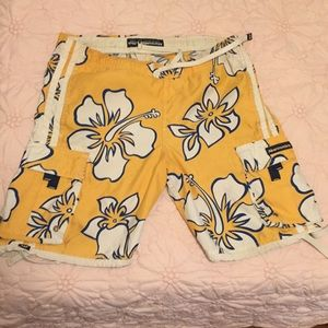 Abercrombie and Fitch Hawaiian board shorts